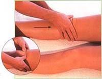 Массаж передней поверхности ног